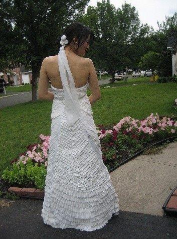Toilet Paper Dress back