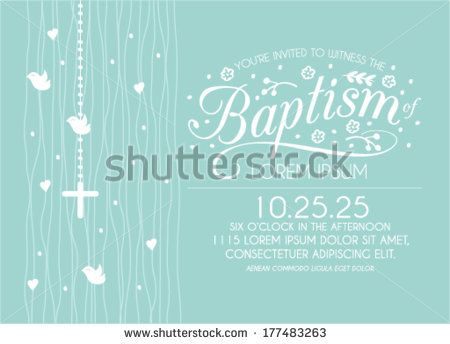 Baptism invitation card design with cross and birds in vector baptism invitation card design with cross and birds in vector stopboris Images