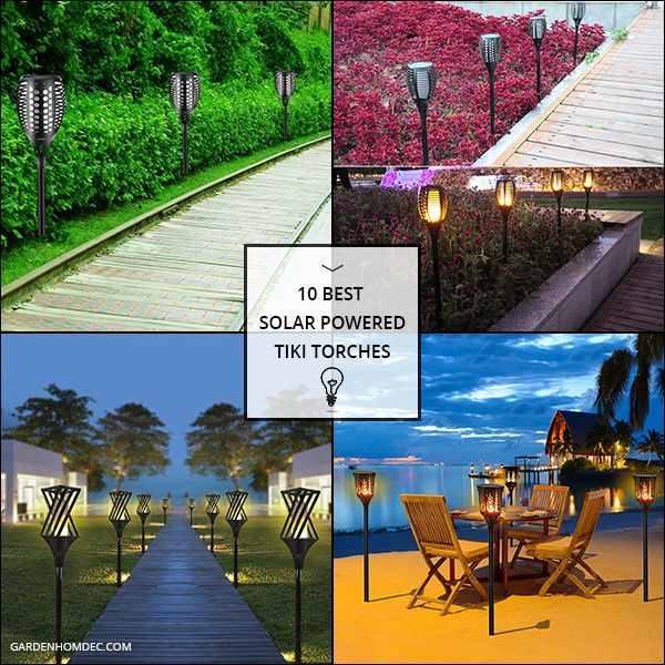 10 Best Solar Powered Tiki Torches With Images Landscape Lighting Kits Solar Tiki Torch Tiki Torches