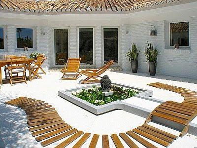 Jardin Minimalista De Bajo Mantenimiento Sendero Zen Servicios - Jardin-minimalista