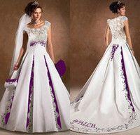Wholesale Purple And White Wedding Dresses
