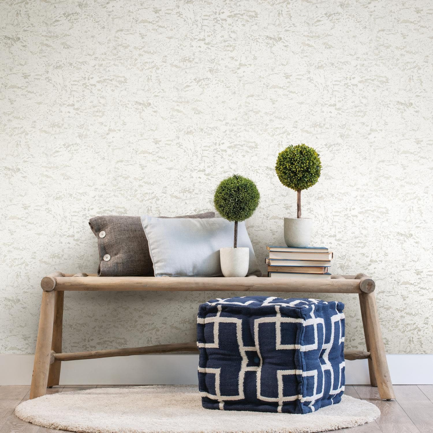 Roommates Faux Cork White Peel And Stick Wallpaper Abstract Walmart Com Affordable Decor Peel And Stick Wallpaper Decor