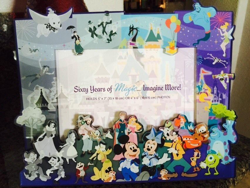 Disneyland Diamond Celebration 60th Anniversary Picture Frame i ...