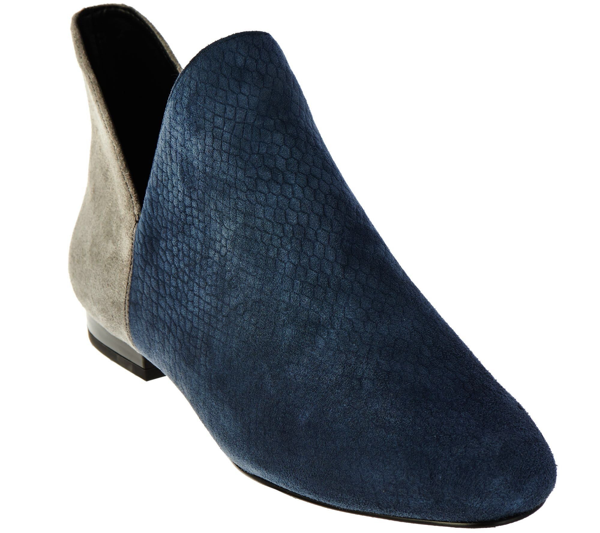 e4a29265855 LOGO by Lori Goldstein Suede and Leather Ankle Booties