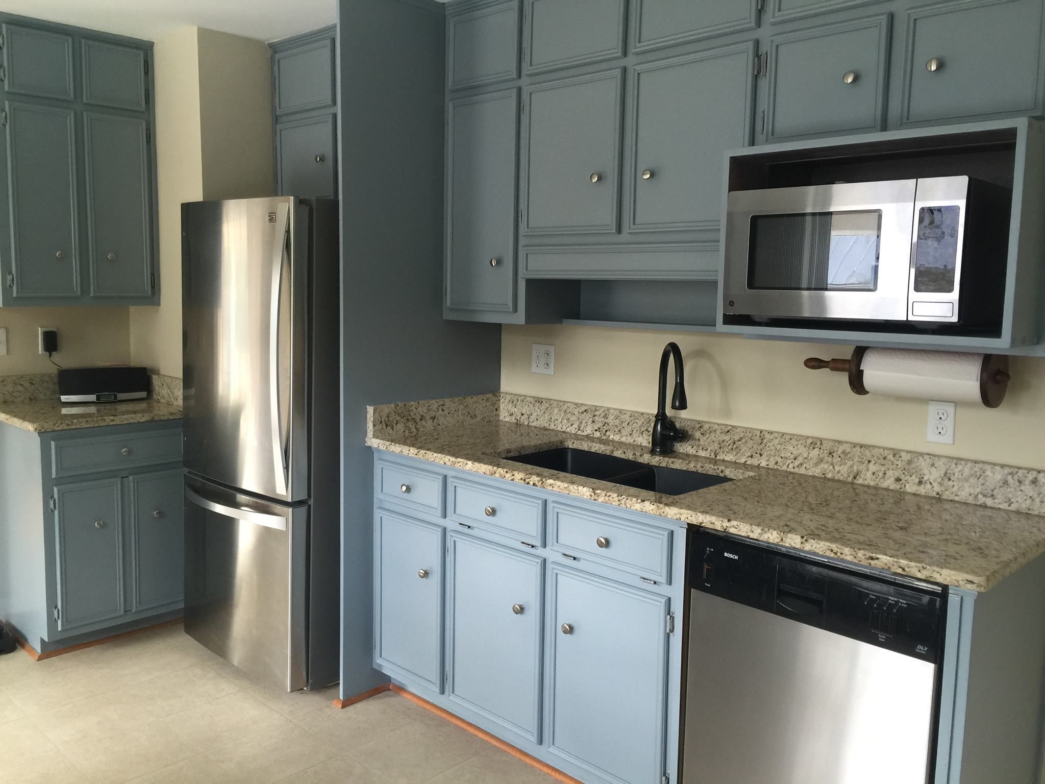 Blue Painted Kitchen Cabinets van courtland blue painted cabinets. | van courtland blue kitchen