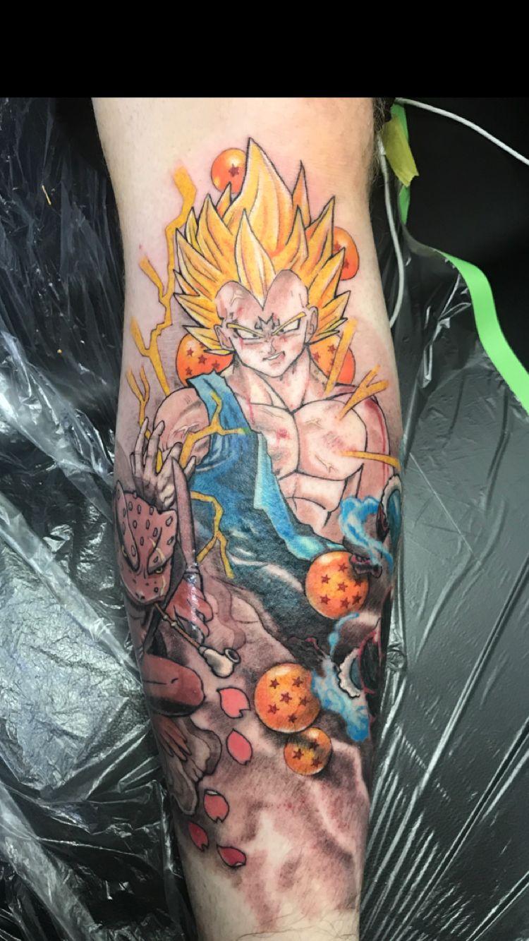 Anime Leg Tattoos Tattoos Dragon Ball Tattoo Z Tattoo