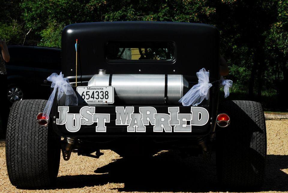 just married car  just married car just married married