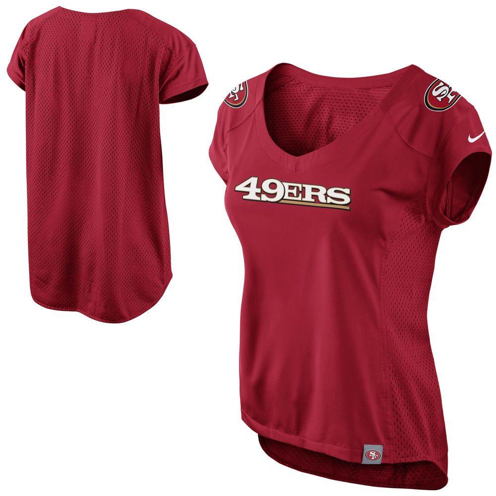 c453d35c379 Nike San Francisco 49ers Womens Fashion Jersey V-Neck Top - Scarlet ...