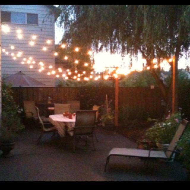 lighted backyard | Life goal Backyard with canopy of lights & lighted backyard | Life goal: Backyard with canopy of lights ...