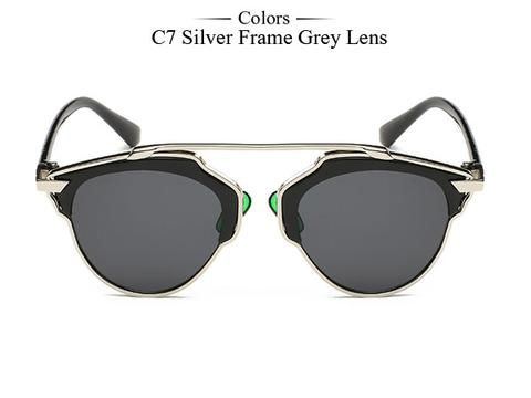 Affordable Elegant Classic Designer's Alloy Frame Women Sunglasses WDS