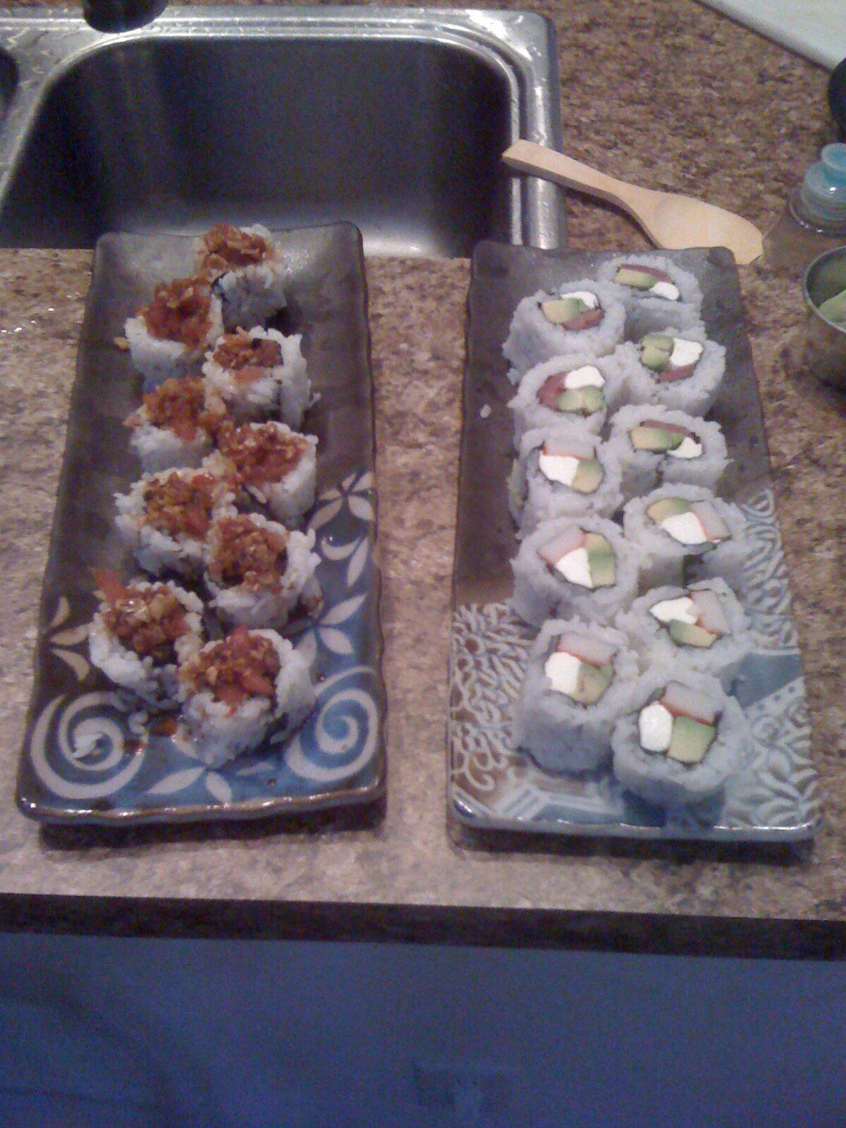 Spicy Tuna Rolls, Crab/Avocado/Cream Cheese Rools