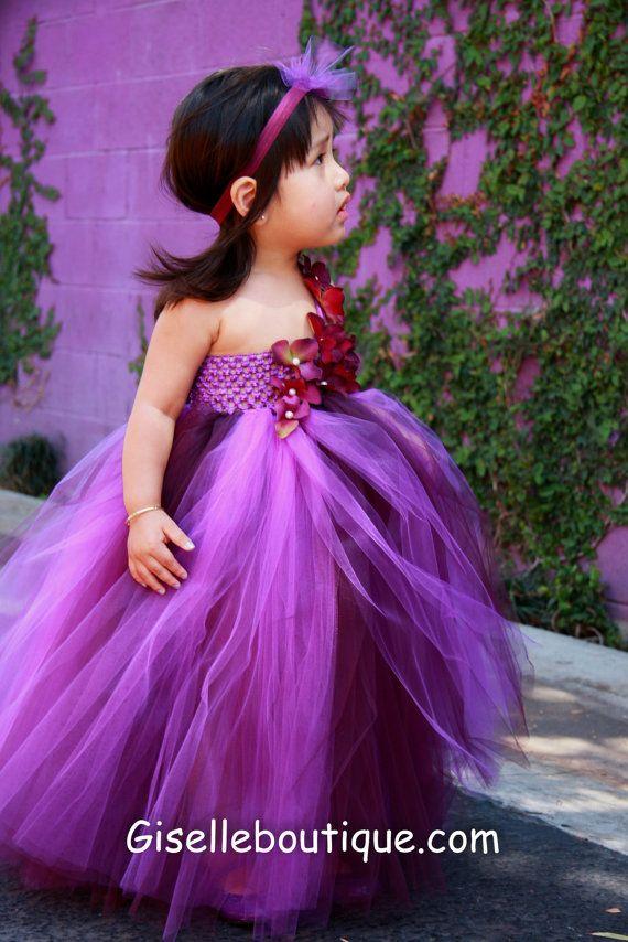 Limited Eggplant and Purple TuTu Dress por giselleboutique en Etsy ...