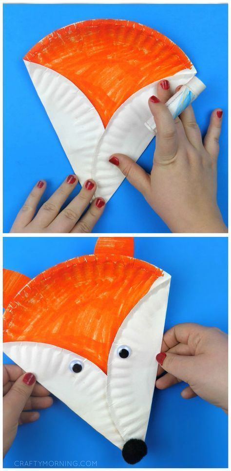Paper Plate Fox Craft - Crafty Morning