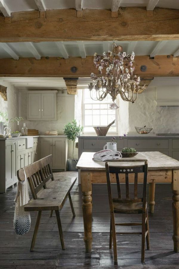 21 Beautifully Rustic English Country Kitchen Design Details to Add Charming European Country Style - Hello Lovely #countrykitchens