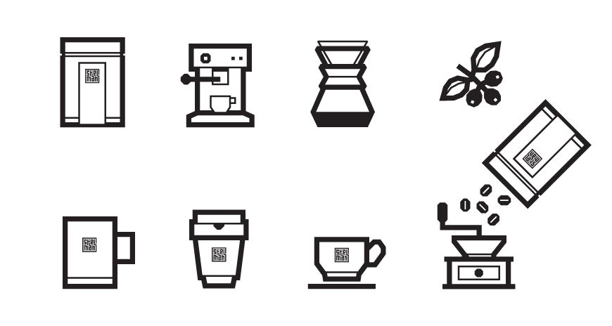 Koffie op je deurmat icon design by Pony Design Club. | DESIGN ...