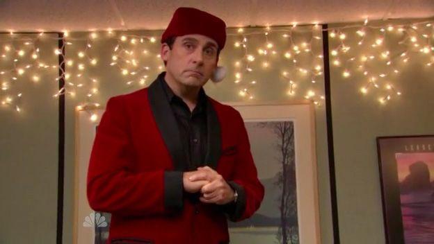 classy santa classy christmas steve carell john krasinski dunder mifflin thats what - The Office Classy Christmas