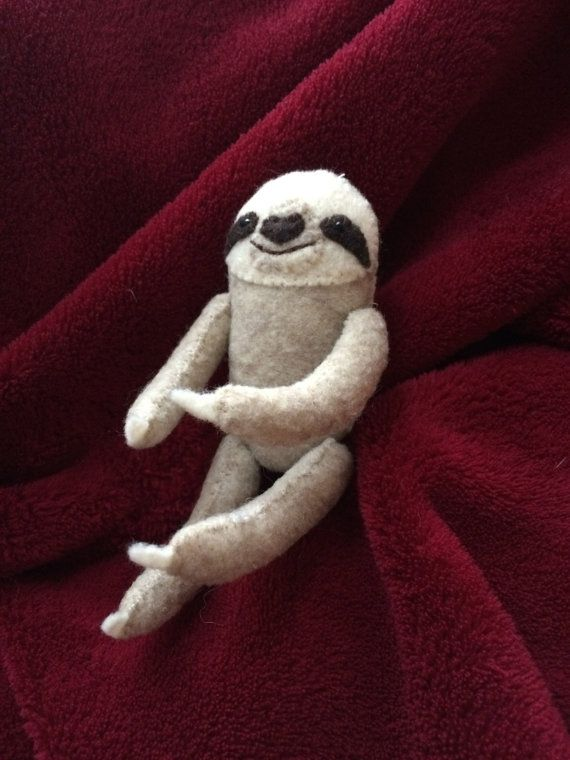 Pocket Sloth Hand Sewn From Felt 4 Tall 20 At 222 Etsy Com