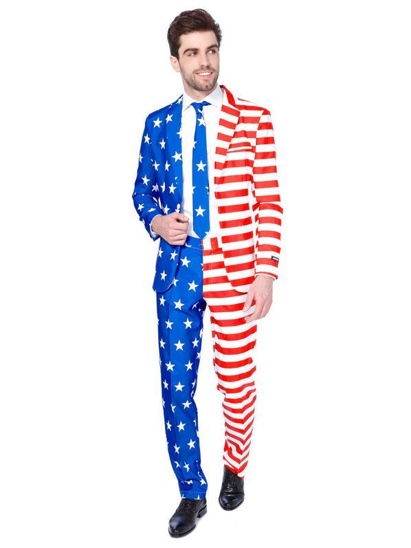 0a82683db54c Suitmeister USA Flag Mens Suit and Tie Set in 2019   Patriotic USA ...