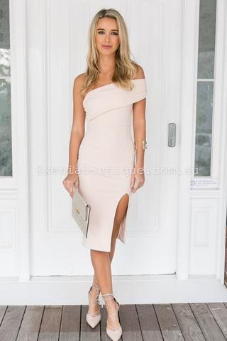 In My Love Midi Dress (Nude) ▶ ▷ ▶ Shop It Now ❤ Xenia Boutique xx