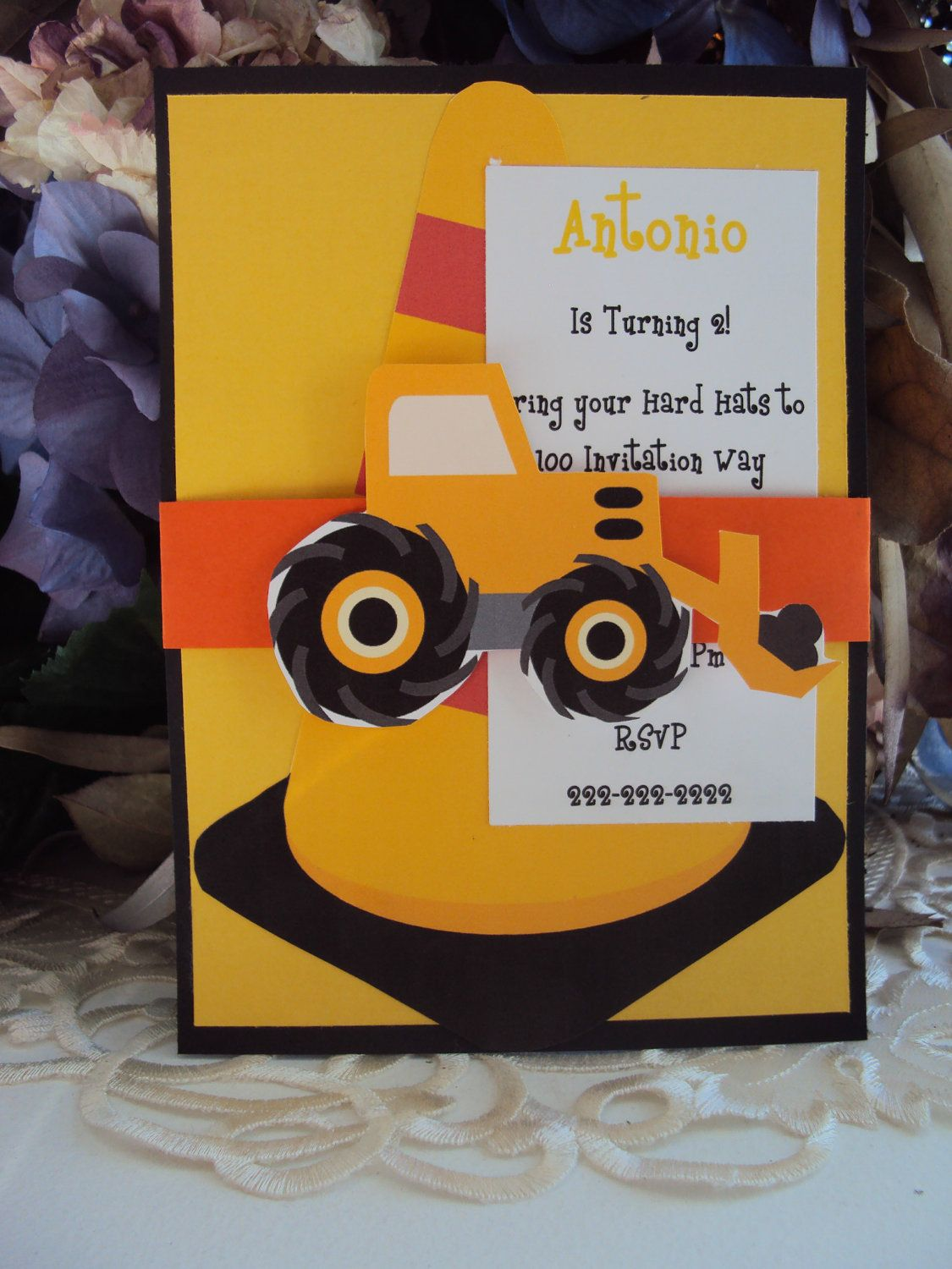 Construction invitations: Too Cute Invites---Perfect for my truck ...