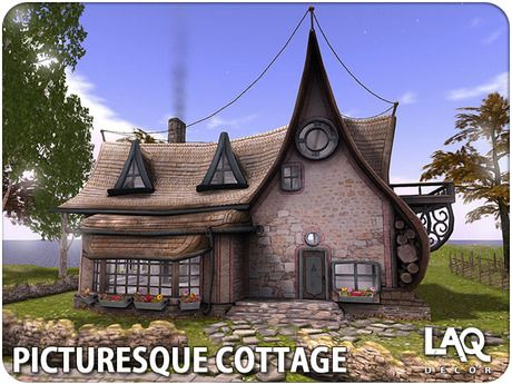 Second Life Marketplace - LAQ Decor ~ Picturesque Cottage