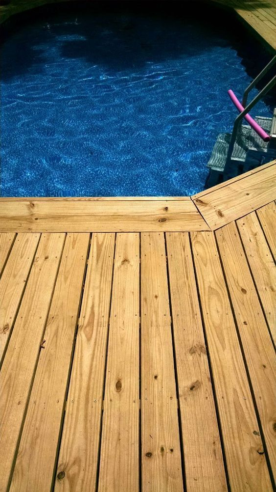 How to Make an Above Ground Pool Look Inground - Pool Deck Ideas ...