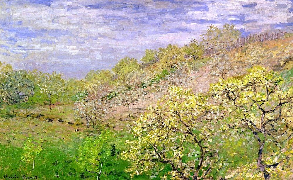 1873, Claude Monet / Apple trees in blossom | Claude monet, Monet ...