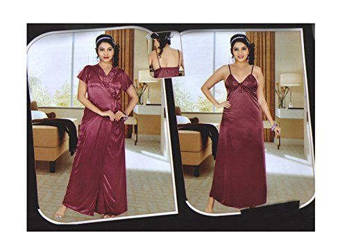 032c1e7710 Indiatrendzs Women s Sexy Hot Nighty Maroon 2pc Set Honeymoon Nightwear Freesize  Indiatrendzs http