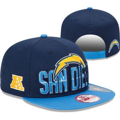 31507b9712f San Diego Chargers New Era 2013 NFL Draft 9FIFTY Navy   Blue Snapback Hat
