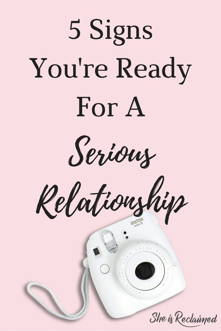 How do you know your ready for a relationship