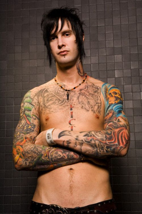 M Shadows Tattoos Four Horsemen i love his tattoos! Es...