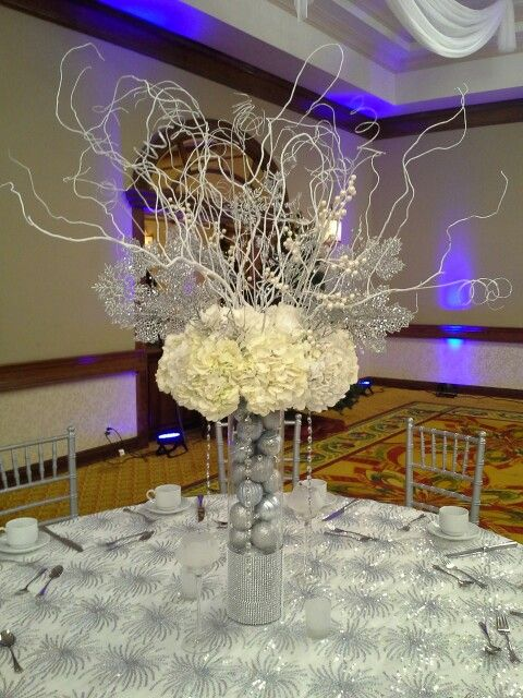 Corporate holiday party winter wonderland themed