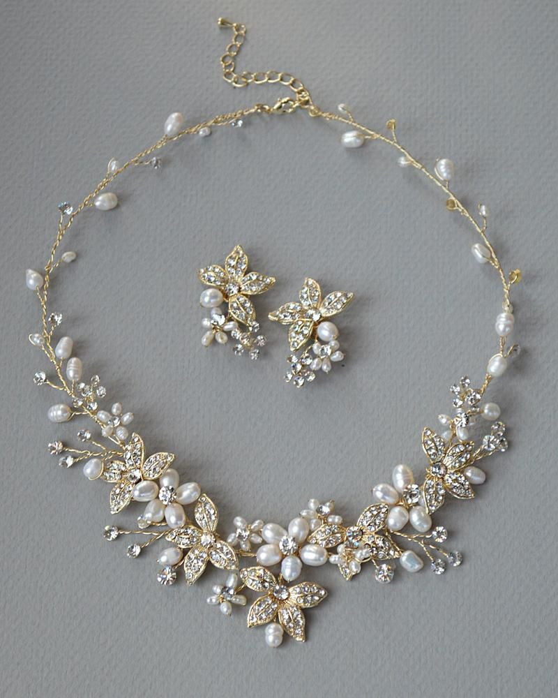 Floral Garden Pearl Jewelry Set Wedding jewelry sets