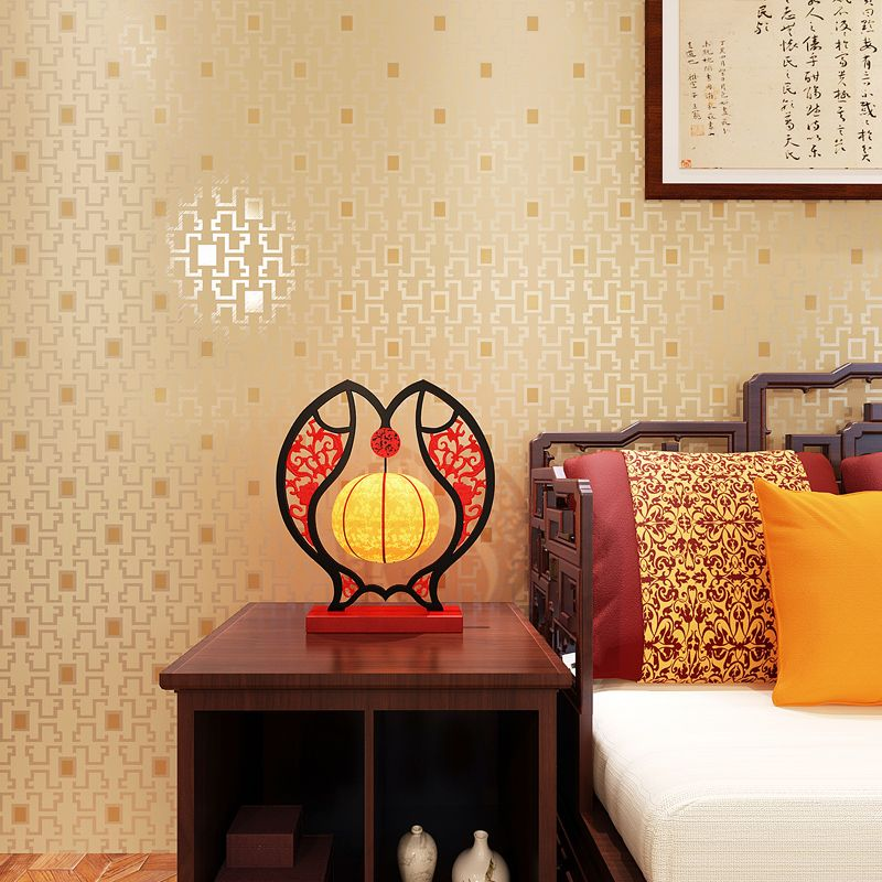 Chinese Style Grid Wall Paper for Walls Classical Plaid Wallpapers ...