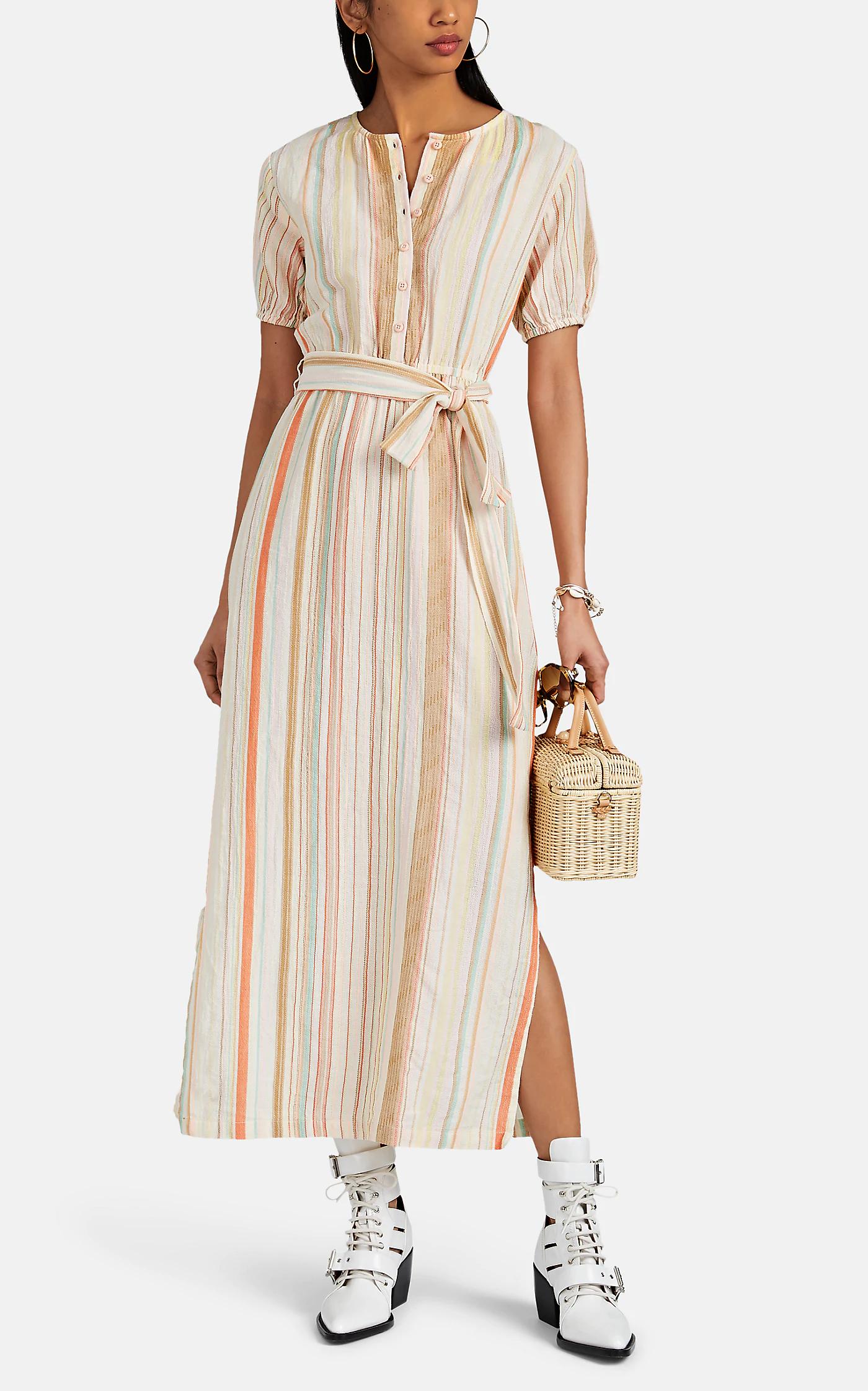 Ace Jig Georgie Striped Cotton Gauze Midi Dress Barneys New York Dresses Midi Dress Ace And Jig [ 2243 x 1400 Pixel ]