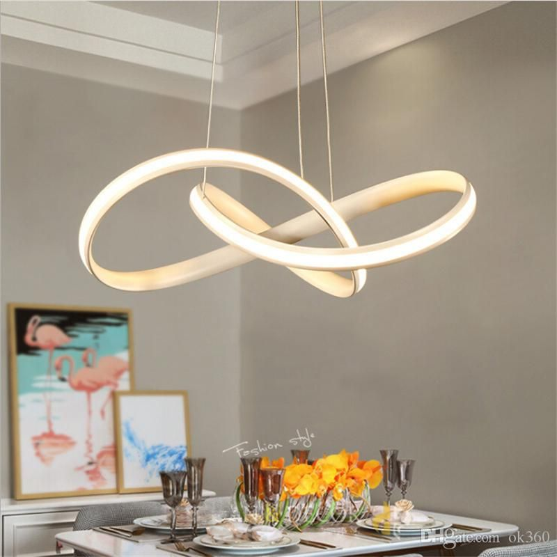 Modern Acrylic Pendant Lights Nordic Led Hanging Lamp For Living Room Dining Room Home Pendant Lights Chandeliers Circular Pendant Light Chandelier Lighting