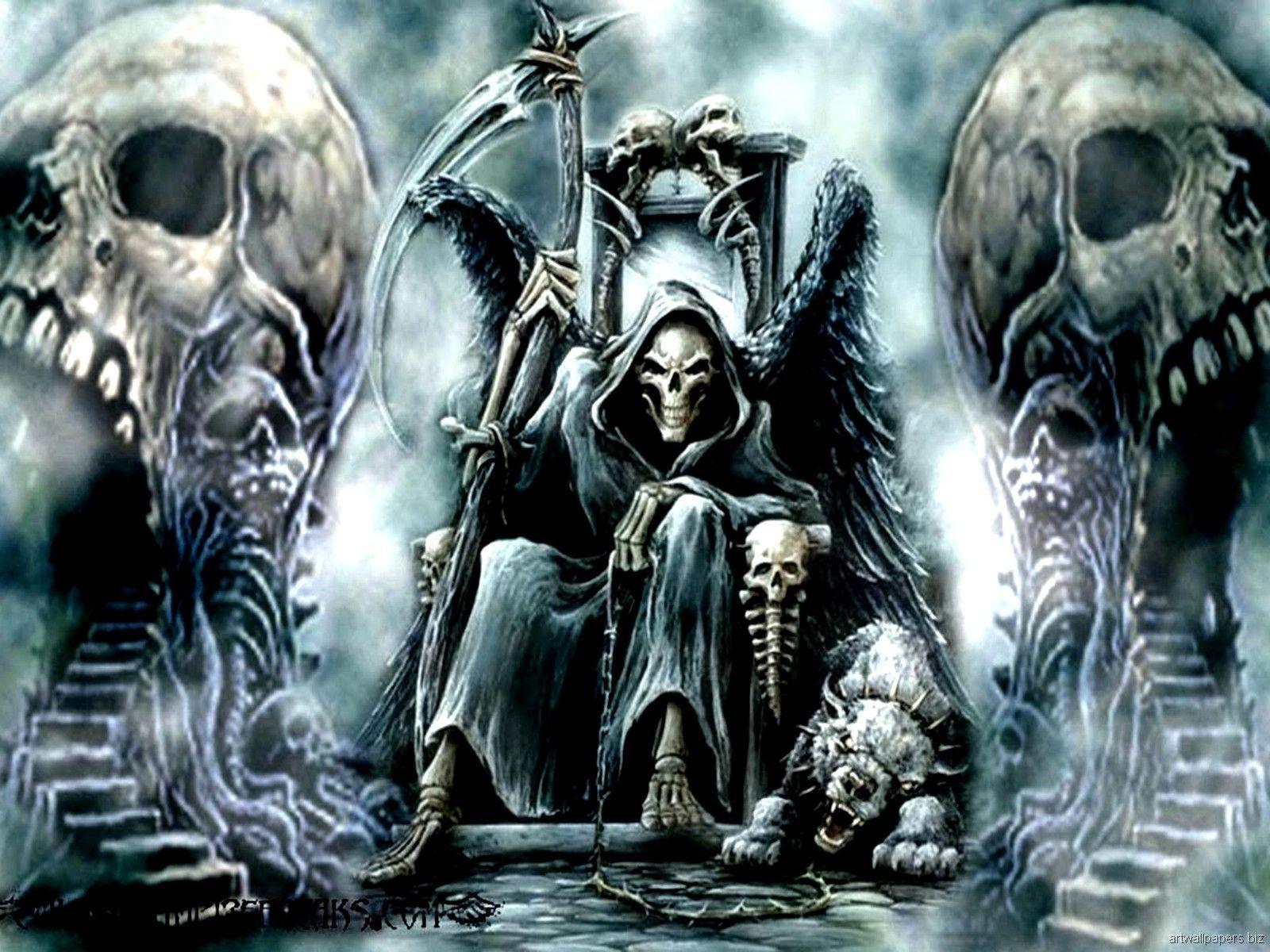 Uyisoex Jpg 1600 1200 Skull Wallpaper Hd Skull Wallpapers Grim Reaper Art