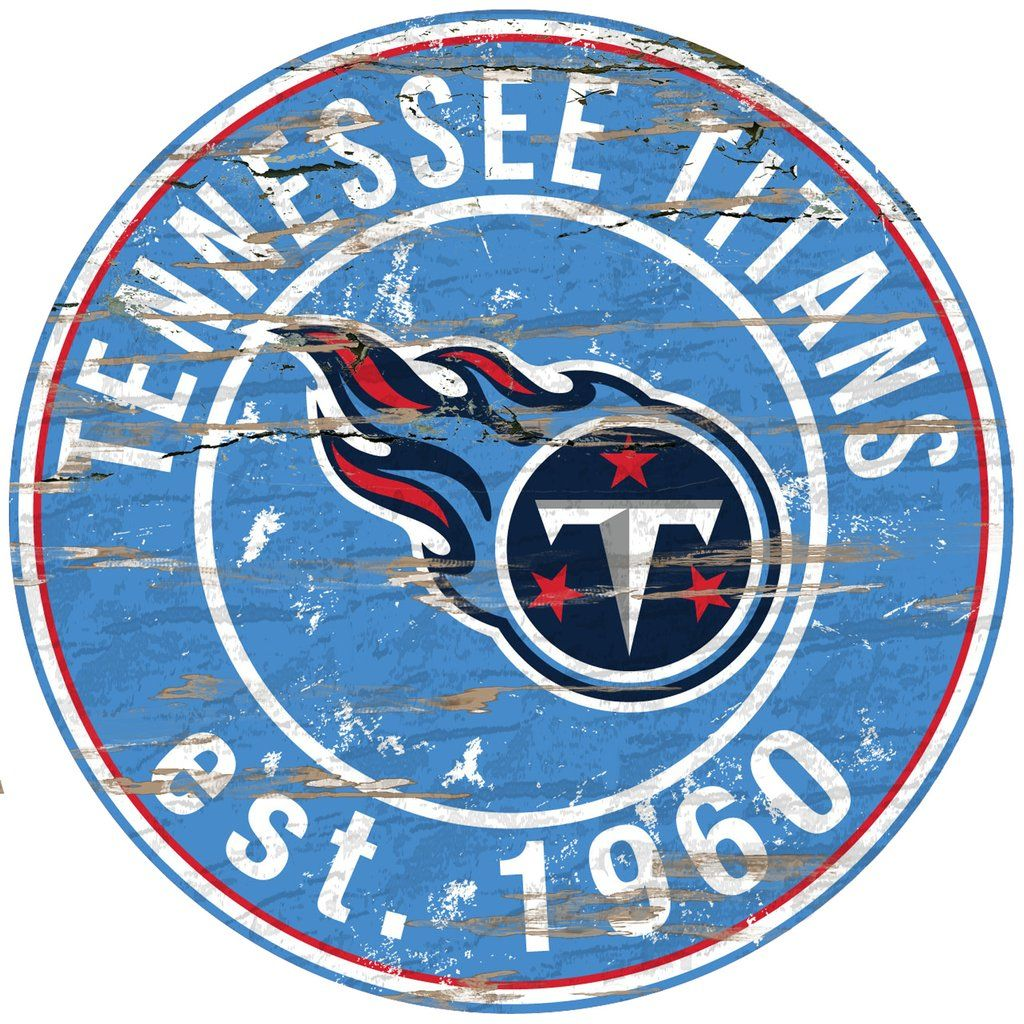 """Tennessee Titans Wood Sign 24"""" Round Tennessee titans"""