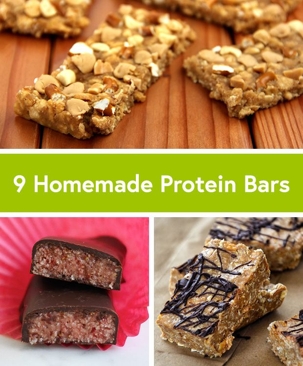 9 Healthy Homemade Protein Bar Recipes #protein