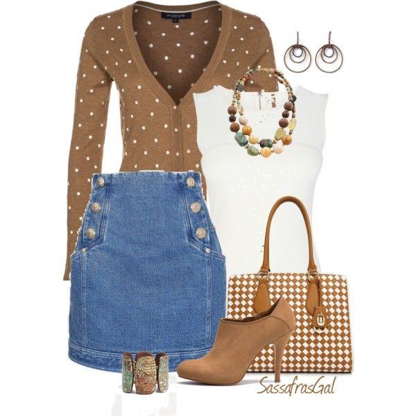 Denim Skirt, created by sassafrasgal on Polyvore | Mode ...