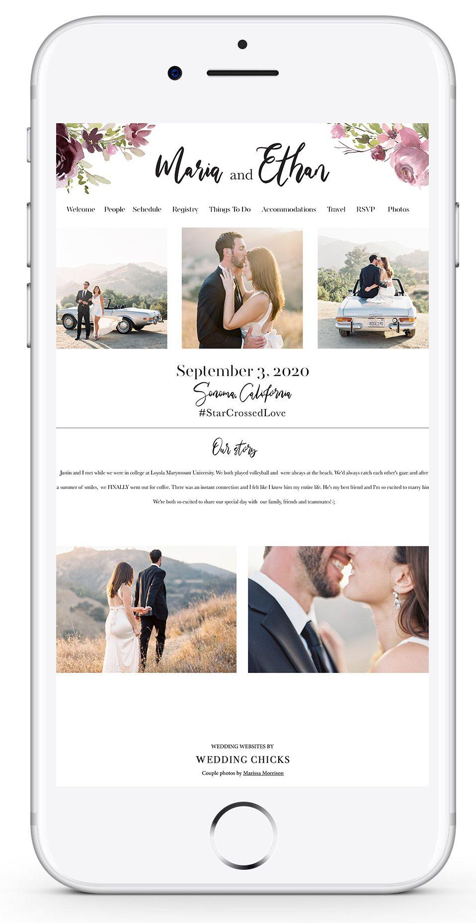 Create a free wedding website online planning templates