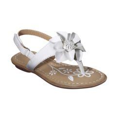 c4b1facb7c41 Toddler Girl s Cherokee® Jess Sandal - White- Target  14.99