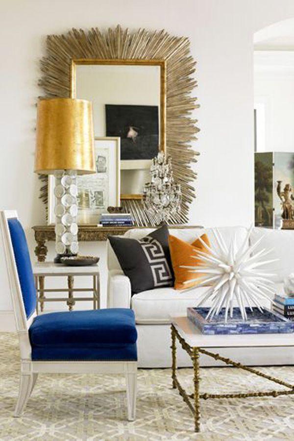 Eclectic Living Room Design. Mirror MirrorSunburst MirrorLarge ... Part 93