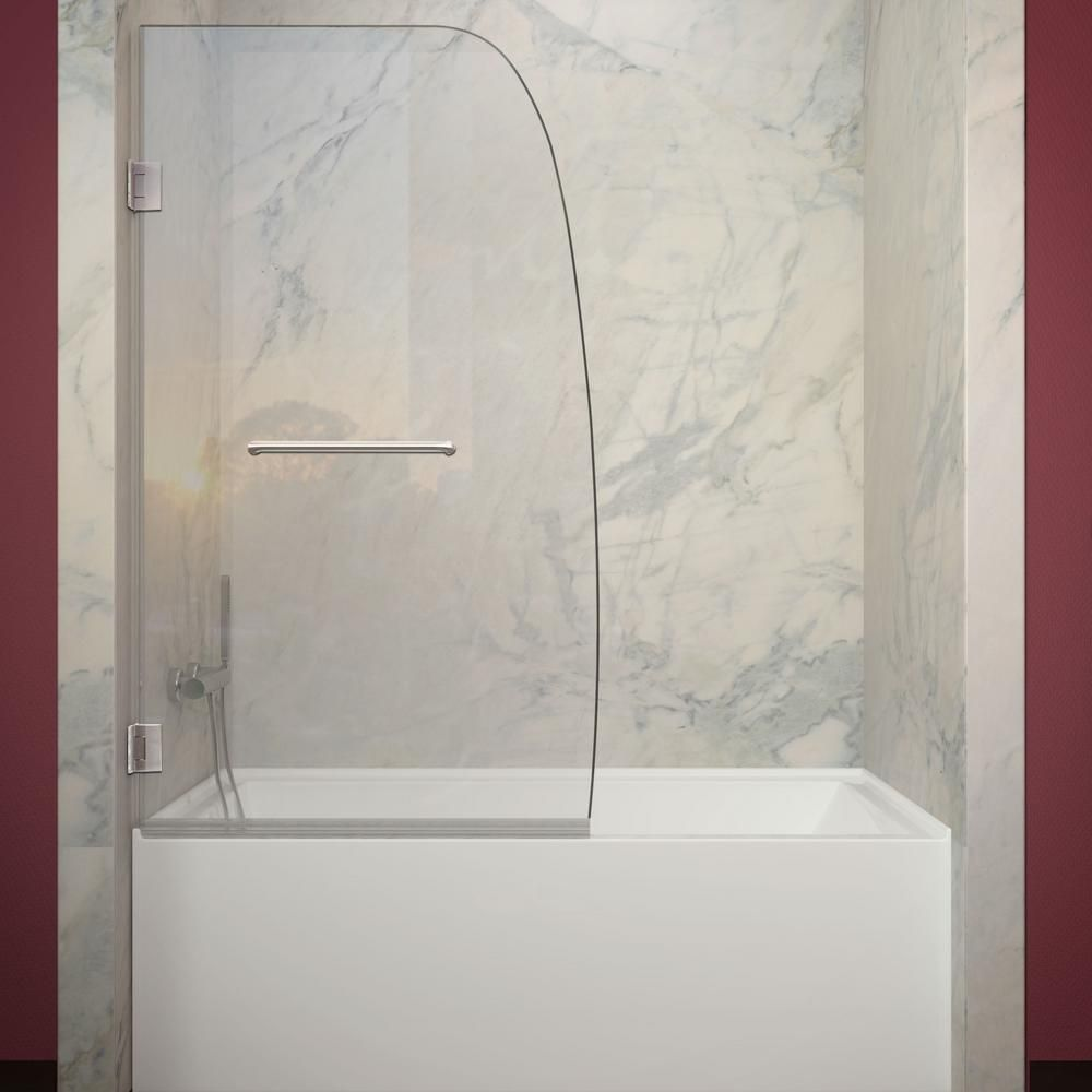 Anzzi Grand Series 34 In X 58 In Frameless Hinged Tub
