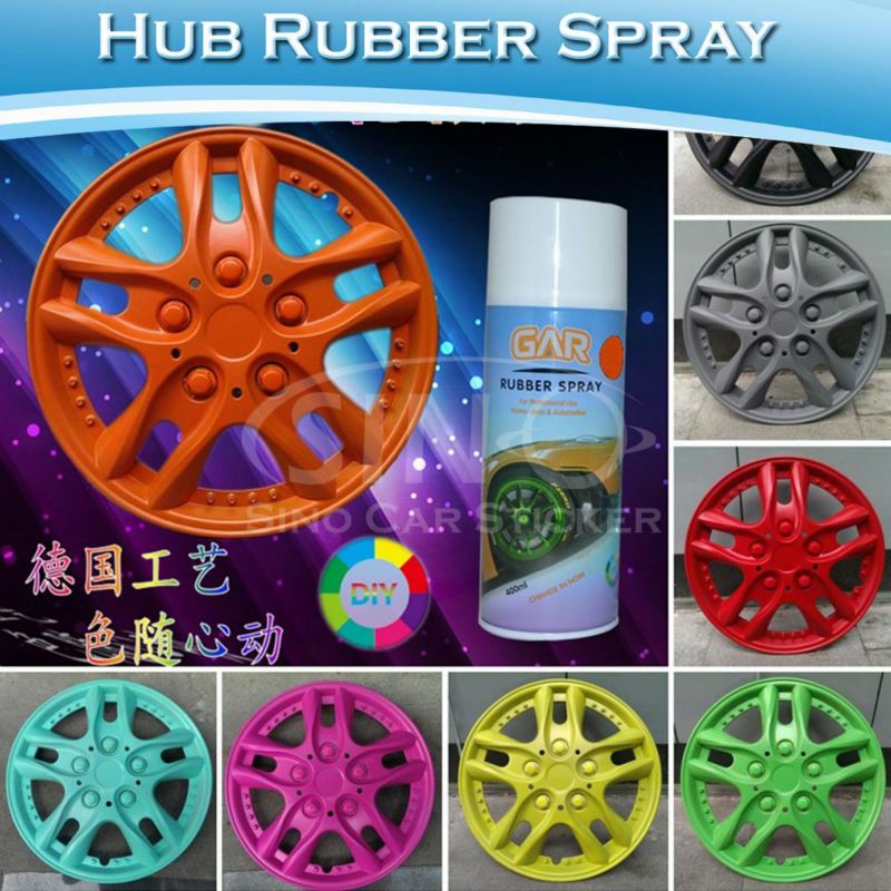 Peelable Plastic Dip Rubber Car Rim Spray Paint Film 400ML