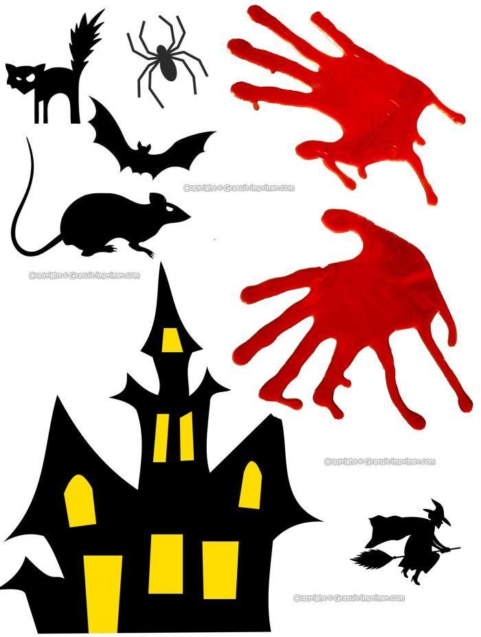 Decoupage Halloween Gratuit Maison Hantee Rat Chauve Souris