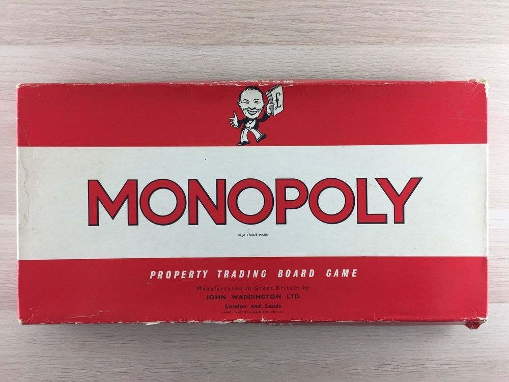 Monopoly 1961 From Waddingtons Vintage Family Board Game