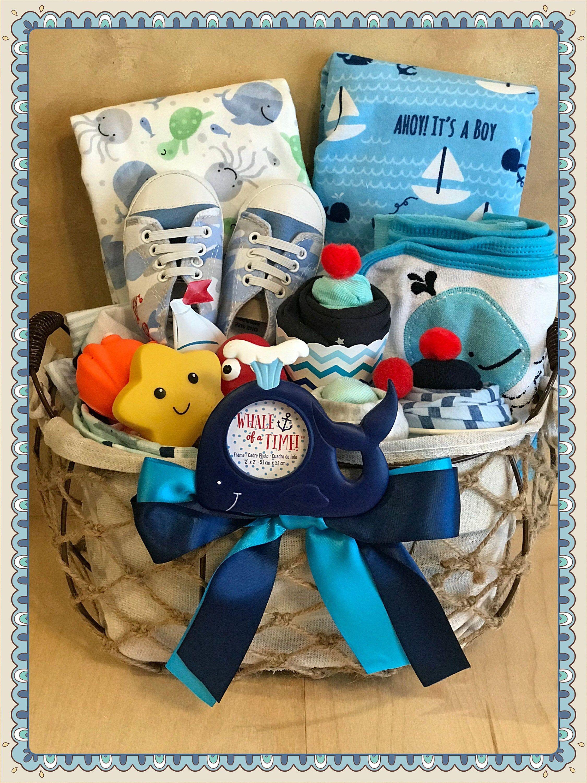 Baby boy nautical gift basketnewborn boy
