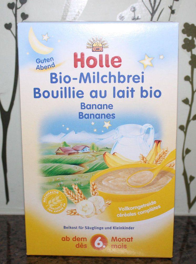 Free Expedited Ship Holle Organic Banana Milk Cereal Porridge Baby Food 4 Boxes Baby Food Recipes Banana Milk Organic Baby Cereal