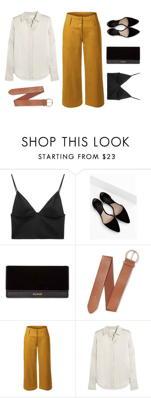 """""""It's Friyay!"""" by le3noclothing ❤ liked on Polyvore featuring T By Alexander Wang, MANGO, Balmain, New York & Company, LE3NO, Chloé and modern"""